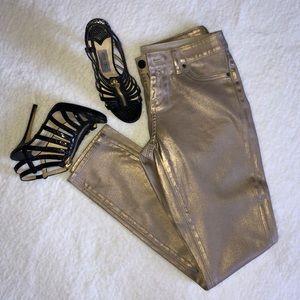 Gold Ellie TAHARI Mercer skinny jean so 2